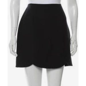 J CREW WOOL SCALLOPED HEM MINI SKIRT